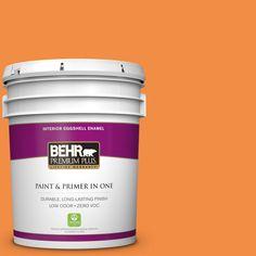 BEHR Premium Plus 5 gal. #260B-7 Bird of Paradise Zero VOC Eggshell Enamel Interior Paint