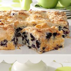 Blueberry Streusel Coffee Cake Recipe from Taste of Home -- shared by Lori Snedden of Sherman, Texas
