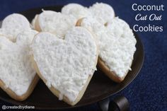 Coconut Cut Out Cookies @createdbydiane