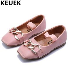 NEW Spring Autumn Single Shoes Children Black Leather Shoes Girls Princess  Comfortable Casual Dane Shoes db084ac54360