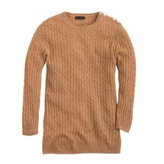 J. Crew Collection cashmere mini-cable sweater in acorn