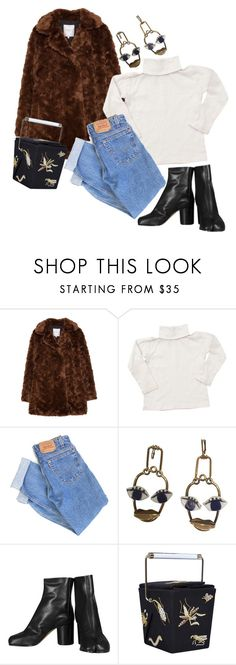 """""""🌹 BUSY GIRL LOOKS: Nights out in New York's Winter weather."""" by lujuriamiu ❤ liked on Polyvore featuring Zara, Bonpoint, Levi's, Maison Margiela and Charlotte Olympia"""