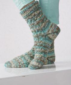 Freie Download-Anleitung (dt.) für die Gletscher Color Socken von Schachenmayr.com