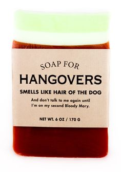 Buy Whiskey River Co: Soap - For Hangovers online and save! Whiskey River Co: Soap – For Hangovers The pounding headache, the cold sweat, the I'm-totally-gonna-vom-on-my-way-to-work feeling… yeah, we're famili. Whiskey River Soap, Hangover Remedies, Survival Kit Gifts, 4 Panel Life, Soap Gifts, Lost My Job, Funny Candles, Decorative Soaps, Me And My Dog