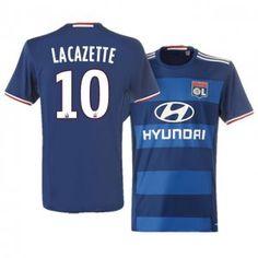 Olympique Lyonnais Away 16-17 Season Blue #10 Lacazette Soccer Jersey [I550]