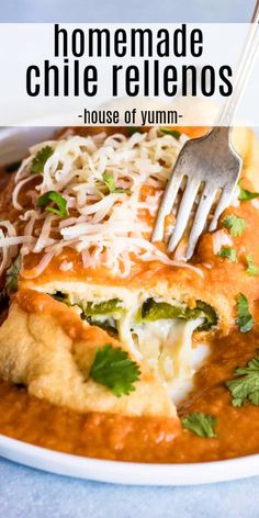 A Step by Step walkthrough on how to make the BEST Chile Rellenos! A fried chile stuffed with cheese and smothered in a red spanish style sauce. Source by HouseofYumm Mexican Food Dishes, Mexican Cooking, Mexican Food Recipes, New Recipes, Vegetarian Recipes, Cooking Recipes, Healthy Recipes, Korean Recipes, Dinner Recipes