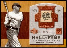 Up4auction-Babe Ruth 2005 Upper Deck Hall of Fame Game Used Bat #UDNation