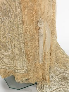 Dress, Evening. Attributed to Callot Soeurs  (French, active 1895–1937). Designer: Attributed to Madame Marie Gerber (French) Date: 1910–12 Culture: French. Medium: silk, metal, pearl beads, rhinestones. Dimensions: Length at CB: 74 1/2 in. (189.2 cm).