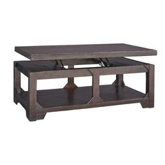 Make your coffee table even handier with a lift top. (Matching End Table also available.) Rogness Lift Top Table | Weekends Only Furniture and Mattress