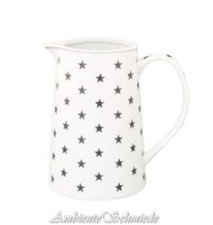 Krasilnikoff Happy Cup Henkel Becher HOME SWEET HOME Grau Punkte weiß Tasse