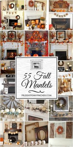 fall mantle decor Celebrate the change of seasons with these creative fall mantels. From farmhouse and rustic to chic and modern, there are ideas for every decor style. Rustic Fall Decor, Fall Mantels, Fall Mantel Decorations, Fall Home Decor, Autumn Mantel, Mantal Decor, Mantel Ideas, Halloween Decorations, Room Decor