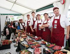 The 2014 British butchery team. From L-R Robert Jones, David Lishman, Richard Carter, James Lally, Martin Crombie, Nigel Rose. Richard Carter, World Famous, British, David, Rose, Fashion, Moda, Pink, Fashion Styles