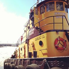 Yellow Tug Boat. Duluth, MN Mike Ojard Submitted by Steve Sydow. http://instagram.com/p/Yib7eeFtyu/