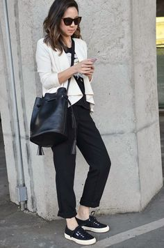 Casual outfit with Superga sneakers