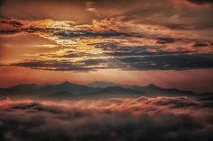 Landscape above the clouds - null