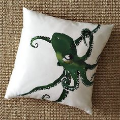 I love the Octopus Silk Pillow Cover on westelm.com.  I really need to suck it up and just but it.