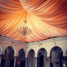 love the draping