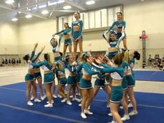 Cheer Sport Hammer Head Sharks - Full Pyramid - YouTube