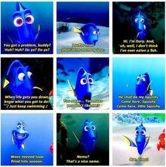 Gallery For Dory Finding Nemo Quotes Squishy Disney Pixar, Walt Disney World, Disney And Dreamworks, Disney Animation, Dory Quotes, Finding Nemo Quotes, Dory Finding Nemo, Disney Girls, Disney Love