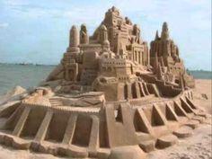 Поделки из песка своими руками: скульптуры, замок и картины