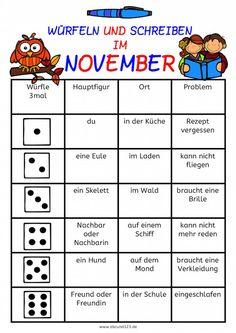 """Heute schließe ich die Reihe """"Würfeln und schreiben in…"""" ab. Dieses Mal gibt es rechtzeitig """"Würfeln und schreiben im November"""". Mit einem Würfel machen die Kinder ihre eigene Geschichte: Hauptfigur, weiterlesen →"""