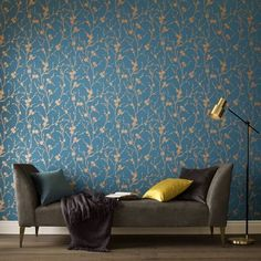 Graham & Brown launch Chelsea Flower Show-inspired wallpaper collection Brown Wallpaper, Home Wallpaper, Textured Wallpaper, Wallpaper Roll, Teal Wallpaper Living Room, Wallpaper For Walls, Bedroom Wallpaper Ideas Green, Bedroom Wallpaper Patterns, Interior Design With Wallpaper