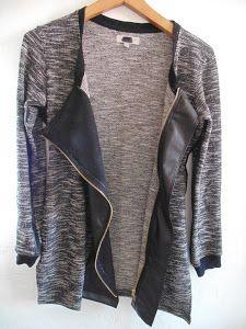 ¿Tienes por casa un jersey que te queda justo pero que te encanta? ¡Conviértelo en chaqueta!