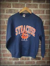 Up for sale is a very cool early Syracuse Orangemen crewneck, before the mascot change. It's a size Medium and in amazing condition! Hoodie Sweatshirts, Crew Neck Sweatshirt, Syracuse University, Syracuse Basketball, College Hoodies, College Apparel, College Outfits, College Wear, Sweater Weather