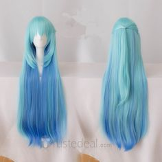 Konosuba God's Blessing on this Wonderful World Aqua  Long Blue Cosplay Wig www.trustedeal.com/Konosuba-Gods-Blessing-on-this-Wonderful-World-Aqua-Long-Blue-Cosplay-Wig.html