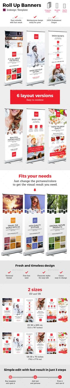 Rollup Stand Banner Display 12x Indesign Template InDesign INDD