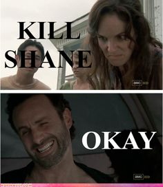 Lori gets straight to the point! #thewalkingdead... I am ok with that plan but then, Rick wouldn't be much of a hero.