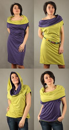 Reversible Multi wear dress.... I love the concept not the colors