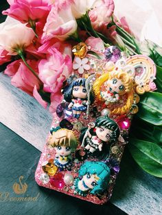Sailormoon phone case, handmade phone case,phone case personalised, phone case custom, unique floral phone case for iPhone6Plus 6sPlus 7Plus by Deemindstudio on Etsy