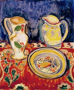 Alfred Maurer - Still LIfe with Breton Pottery