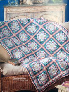 Free Tropical Delight Crochet Pattern, flower granny square, blanket, throw, #haken, gratis patroon (Engels), granny square met bloem, deken, sprei, baby deken, kraamcadeau, haakpatroon