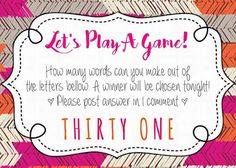 130 best thirty one games images on pinterest party ideas thirty