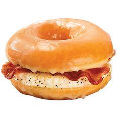 Dunkins por el mundo: Bahamas. Glazed Donut Breakfast Sandwich