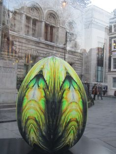 UK - London - Near Leicester Square - Big Egg Hunt - Egg No 152 - Obsidian Egg | Flickr - Photo Sharing!