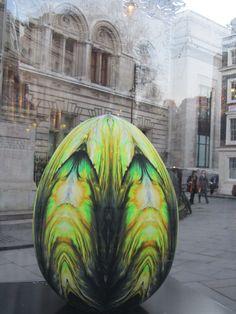 UK - London - Near Leicester Square - Big Egg Hunt - Egg No 152 - Obsidian Egg | Flickr - Photo Sharing!