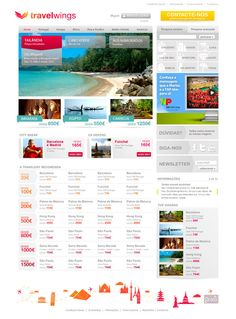 Travelwings.pt - Online Travel Agency by Neuza Faustino, via Behance