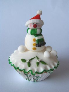 Snowman from cupcakesandhappiness