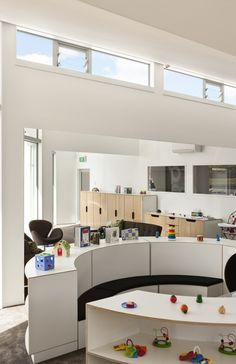 Fantails Childcare in Auckland, designed by Collingridge & Smith Architects | clerestory windows + furniture modules by Starex