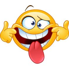 Making a face emoticon. Emoticon making a funny face Royalty Free Stock Images