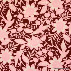 Sparrow in pink by Alexander Henry Fabrics 1750BR cotton fabric