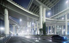Shanghai cityscapes by Jens Fersterra, via Behance