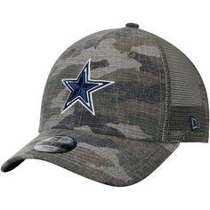 e52058d787340 Dallas Cowboys New Era Youth Woodland Trucker Duel 9FORTY Adjustable  Snapback Hat - Camo Stone