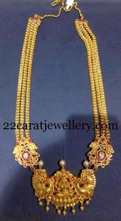Jewellery Designs: Peacock Floral Antique Haram
