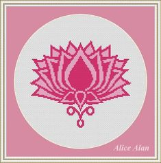 Cross Stitch Pattern Symbol Lotus flower pink palette monochrome designed by me, so you have a unique opportunity to get an exclusive product. Colors – 2 Fabric: 14 count White Aida Stitches: 99 x 85 Size: 7.07 x 6.07 inches or 17.96 x 15.42 cm Colours: DMC Fabric: 16 count White Aida
