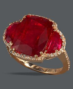 Ruby ring. rarely like semi-precious stones, but this style is amazing.