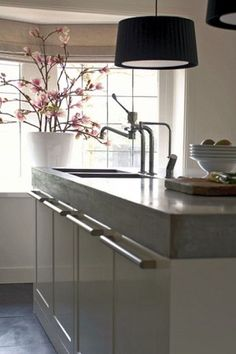 luv the look of the thick counter top